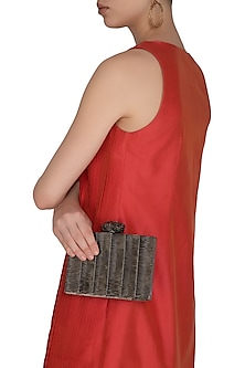 Nickel Handcrafted Clutch by Be Chic