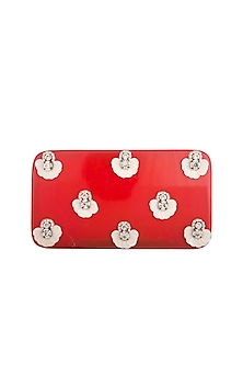 Hot Pink Embroidered Clutch by Be Chic
