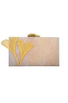 Pearl Blue Stone Clutch by Be Chic