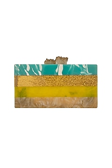 Multi Color Stone Clutch by Be Chic