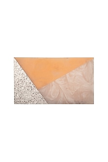 Peach Shimmery Clutch by Be Chic