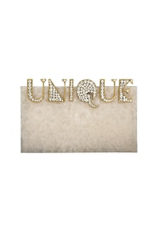 Ivory Stone Clutch by Be Chic