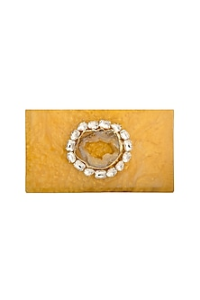 Honey Crystals & Natural Stone Clutch by Be Chic