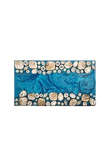 Blue Crystals & Stone Clutch by Be Chic
