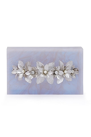 Ivory Pearl Embellished Clutch by Be Chic