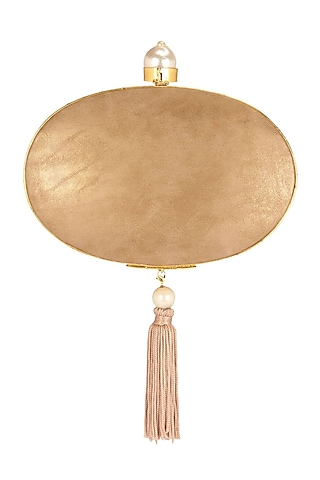 Gold Embroidered Clutch by Be Chic