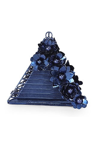 Blue Embellished Clutch by Be Chic