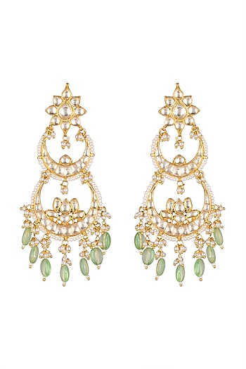 Gold Finish Dangler Earrings by Belsi's Jewellery