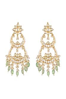 Gold Finish Dangler Earrings by Belsi's Jewellery