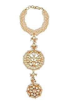 Gold Finish Kundan Haath Phool by Belsi's Jewellery