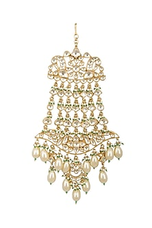 Gold Finish Kundan & Pearls Passa by Belsi's Jewellery