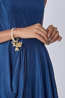 Gold Finish Kaleera Bangle by Belsi's Jewellery