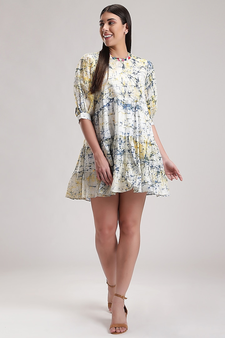 White Embroidered Doll Dress by Be True