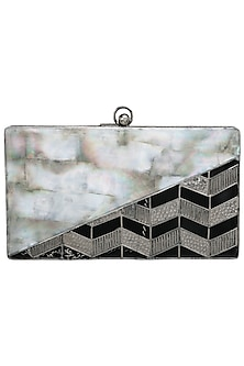 Grey Embellished Clutch by Be Chic