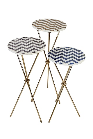Multi Colored Tripod Table by Bespoke Home Jewels