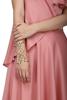 Gold Plated Jade Stone Handcuff by Belsi's Jewellery