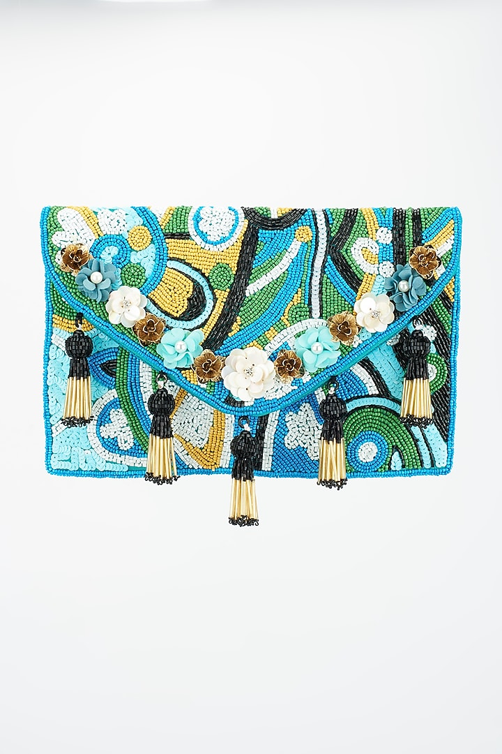 Multi-Colored Boho Bag With Embroidery by BHAVNA KUMAR