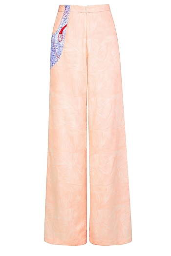 Nude Vein and Flesh Print Relax Pants by Bhoomika Chouhan
