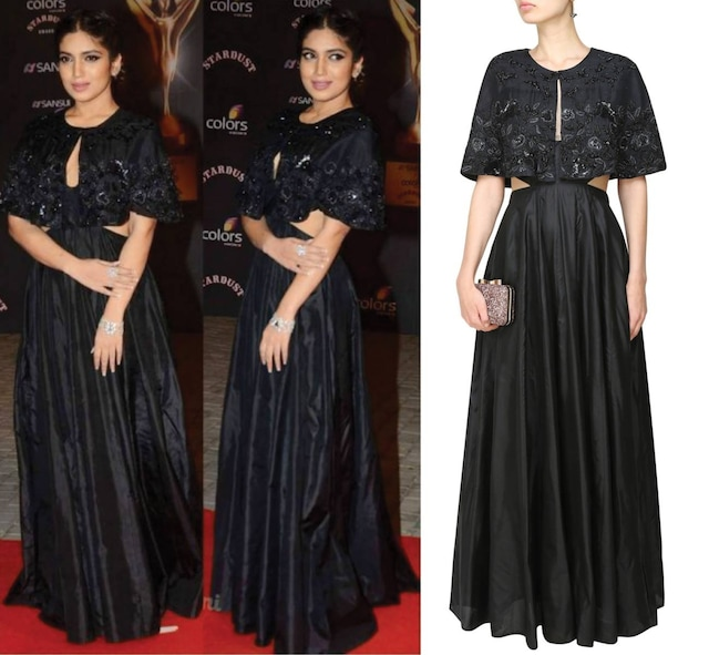 Black Embroidered Cape  and Dress by Ank By Amrit Kaur
