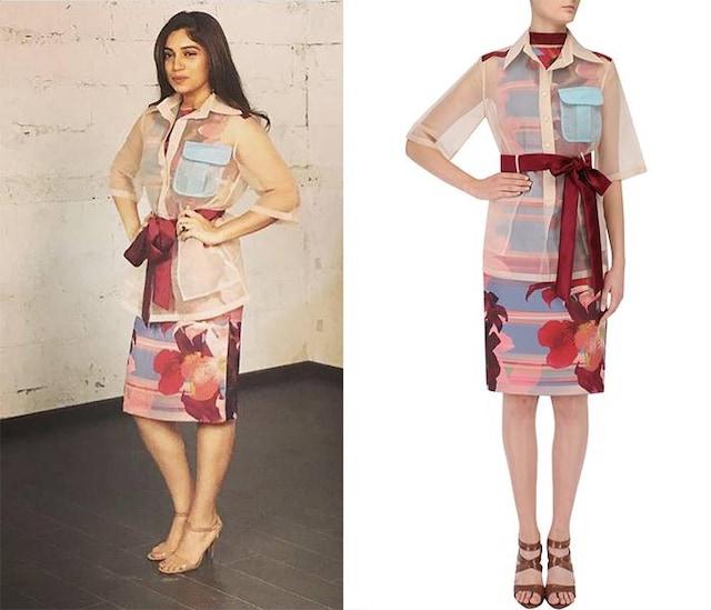 Powder Blue Lily Pop Shift Dress by Kanika Goyal
