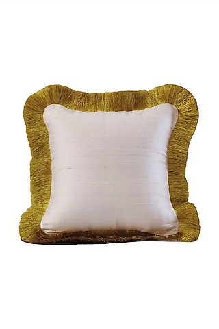 Rose Pink Raw Silk Cushion Cover With Fillers by Barkat
