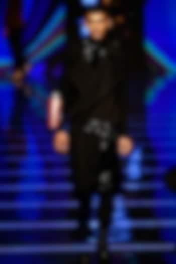 Black Jumpsuit With T-Shirt by BLONI MEN
