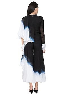 Black Draped Tie-Dye Jumpsuit by BLONI