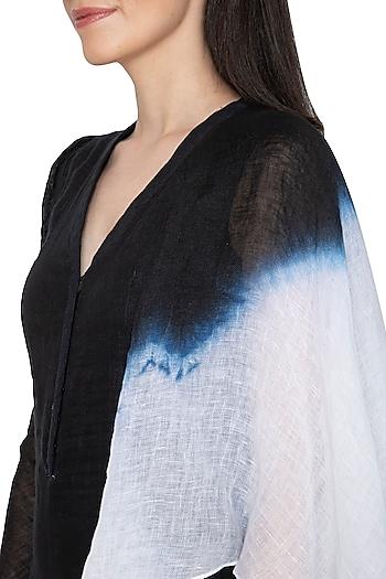 Black Draped Tie-Dye Jumpsuit by BLONI