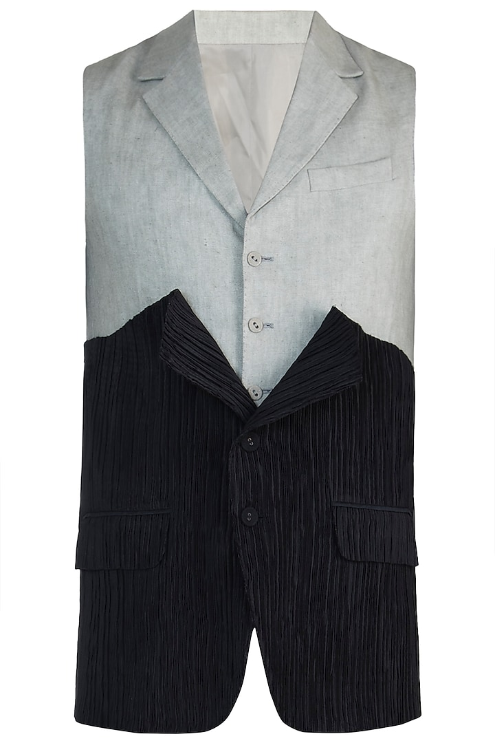 Black deconstructed waistcoat by BLONI