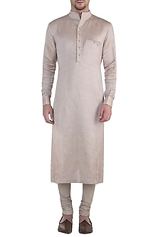 Old rose kurta with churidar by BLONI