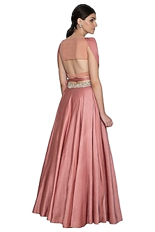 Blush Pink Embroidered Lehenga Set by Bhumika Sharma
