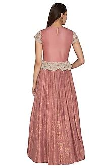 Blush Pink Embellished Anarkali Gown by Bhumika Sharma