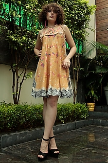 Multi Colored Embroidered Dress by Bhanuni by Jyoti