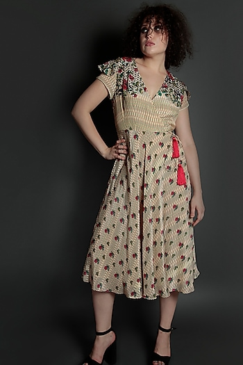Multi Colored Embroidered Floral Jumpsuit by Bhanuni by Jyoti