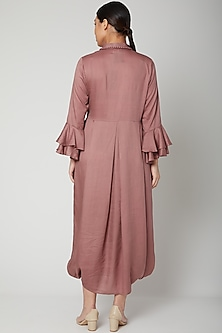 Mauve Dress With Necklace by Bohame