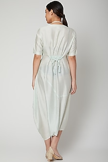 Ice Blue Dress Come Jumpsuit With Necklace by Bohame