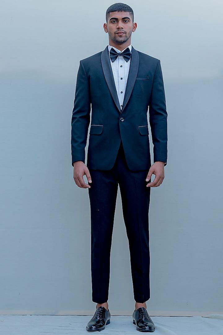 Black Suiting Tuxedo Set by Bohame Men