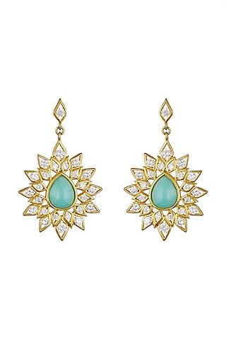Gold Finish Dangler Earrings by THE BOHEMIAN