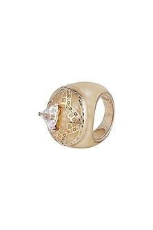 Gold Plated Resin Ring by THE BOHEMIAN