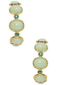 Pistachio Frida Hoops by The Bohemian