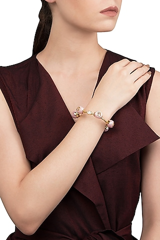 Pink Zircon Audrey Bangle by The Bohemian