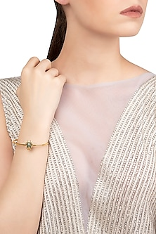 Gold Plated Beetle Motif Bracelet by The Bohemian