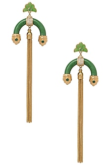 Green Half Hoop Earrings by The Bohemian