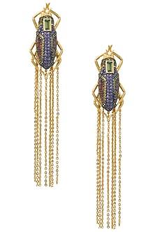 Multi-Coloured Lady Bug Tassel Earrings by The Bohemian