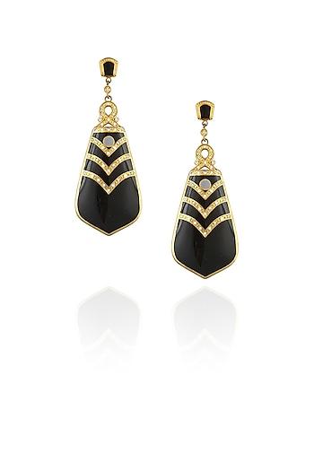 Black berry drop earrings by The Bohemian