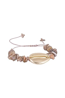 Gold Finish Seashell Bracelet Cum Anklet by Bansri