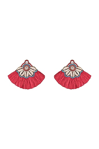 Shell & Tassel Earrings by Bansri