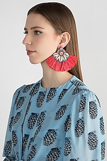 Shell & Tassel Earrings by Bansri