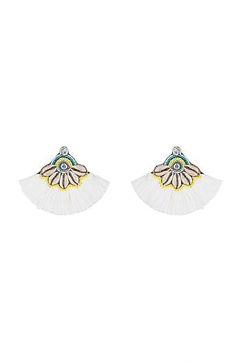 Swarovski & Tassel Earrings by Bansri