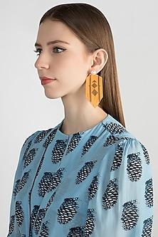 Gold Finish Pearl Earrings by Bansri